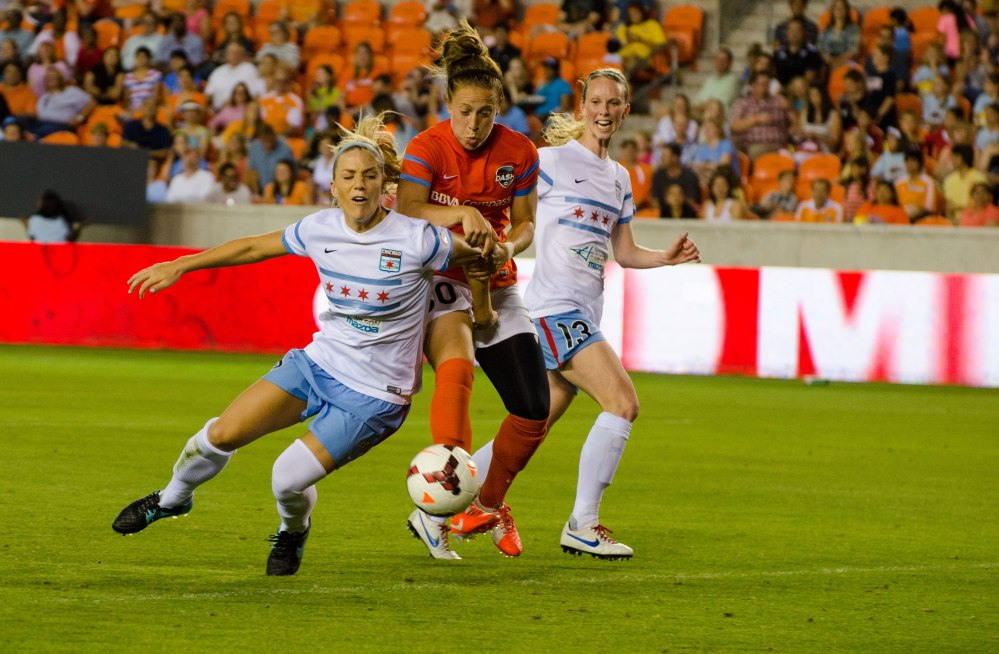 Making 1st goal at home in team history for the Houston Dash