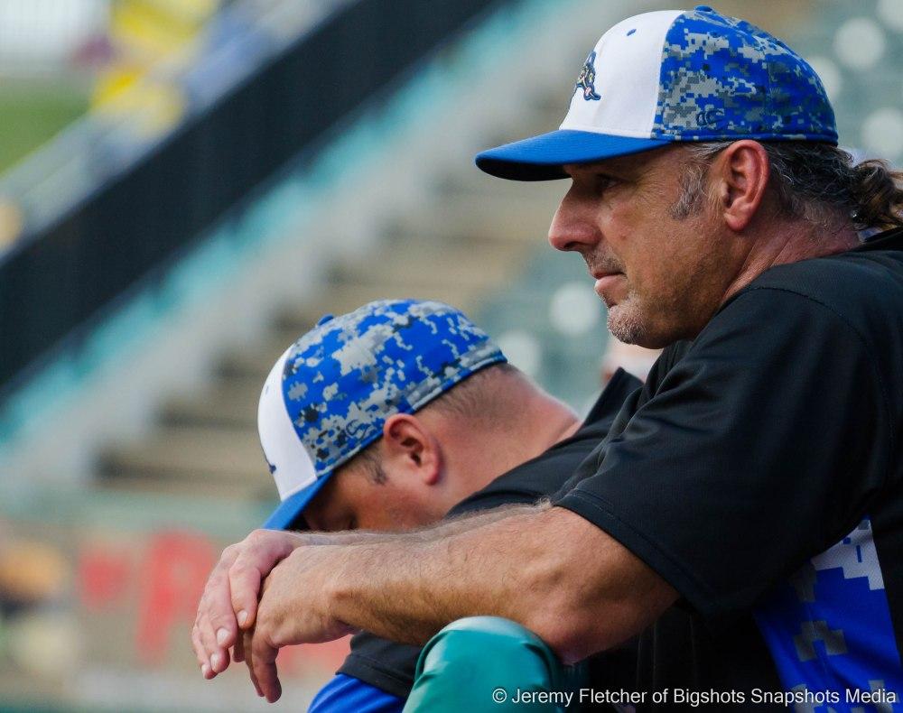 Sugar Land Skeeters vs Bridgeport Bluefish here at Constellation Field in Sugar Land Texas Sunday, August 23, 2015 (Gary Gaetti)