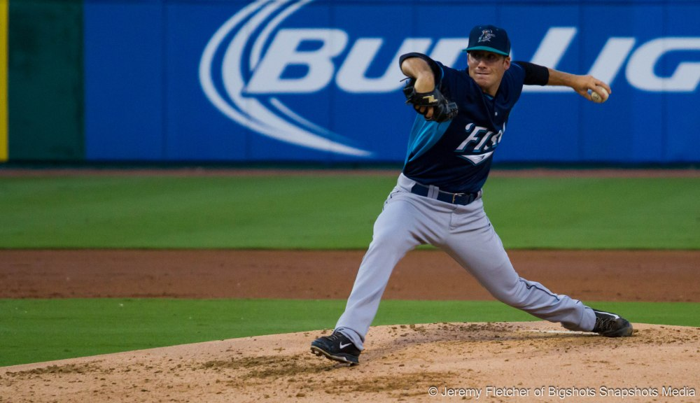 Sugar Land Skeeters vs Bridgeport Bluefish here at Constellation Field in Sugar Land Texas Tuesday August 18, 2015 (Matt Iannazzo of the Bluefish)