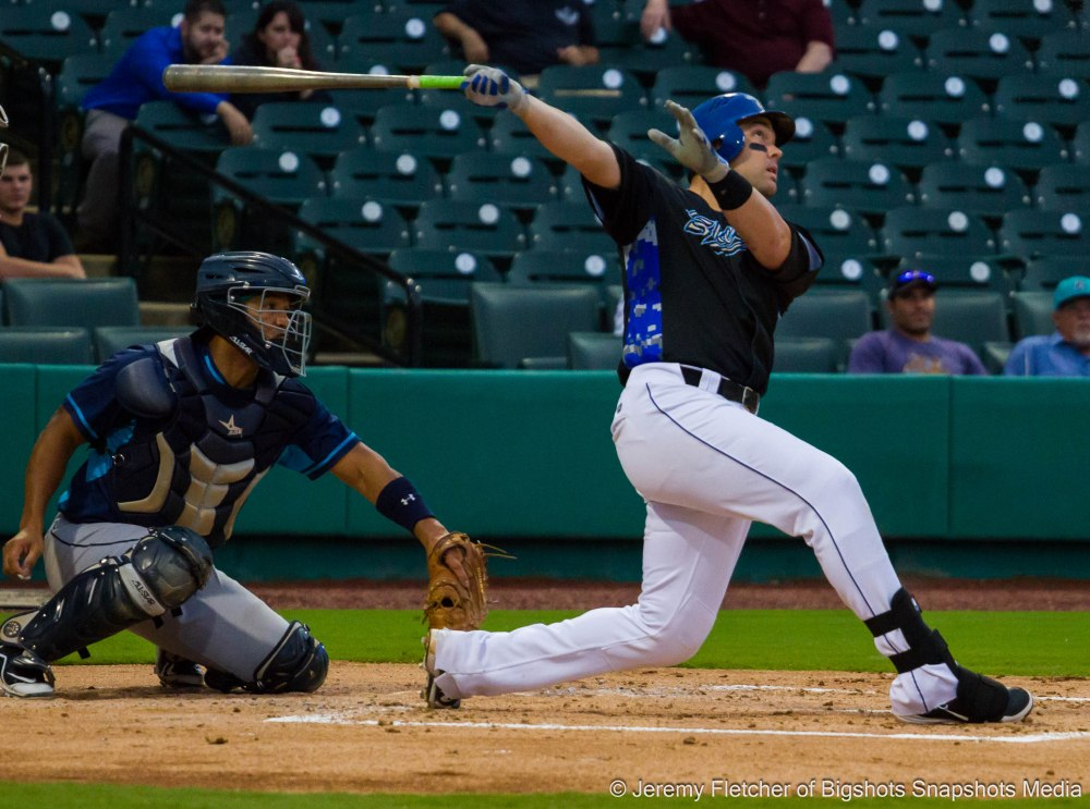 Sugar Land Skeeters vs Bridgeport Bluefish here at Constellation Field in Sugar Land Texas Thursday August 20, 2015 (Travis Scott)