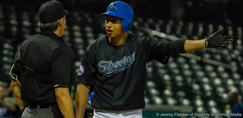 Sugar Land Skeeters vs Bridgeport Bluefish here at Constellation Field in Sugar Land Texas Thursday August 20, 2015 (Renny Osuna)