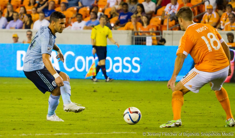 Houston Dynamo vs Sporting Kansas City here at BBVA Compass Stadium September 23, 2015 (Jeremy Fletcher of Bigshots Snapshots Media Group)