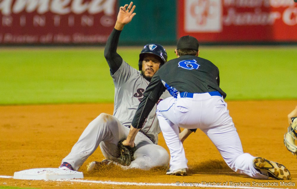 Sugar Land Skeeters vs Somerset Patriots here in Sugar Land Texas at Constellation Field Monday September 7, 2015 (Jeremy Fletcher of Bigshots Snapshots Media Group)