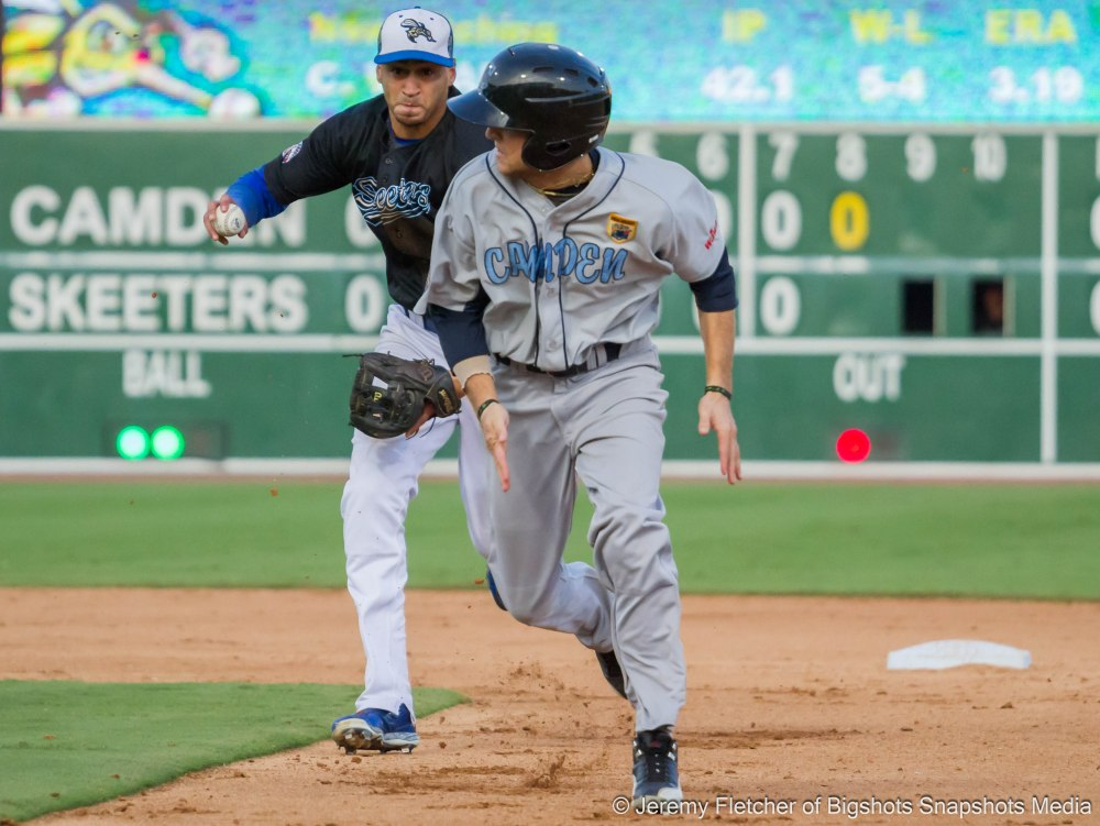 Sugar Land Skeeters vs Camden Riversharks at Constellation Field in Sugar Land Texas Sunday September 20, 2015 last game of the season ends with a walk off strike out (Jeremy Fletcher of Bigshots Snapshots Media Group)